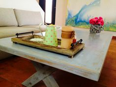 Chalk paint, some  plaster patches & wax turned this out of favor oak table into a gem