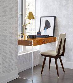 Editar la entrada < Eclecticmanía — WordPress Home Decor Kitchen, Office Interior Design, Interior Design, Home, Interior, Home Office Furniture, Chic Office Space, Desk In Living Room, Home Decor
