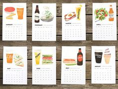 Food-inspired calendars for 2014