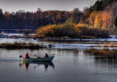 Fishermen. - Northern Ostrobothnia, Finland, - Pohjois-Pohjanmaa - Norra Österbotten