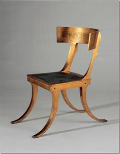 Inspired by the forms of the Greek Klismos Chair