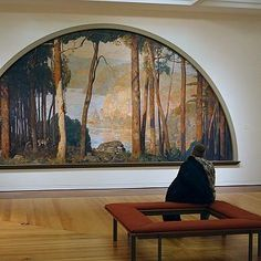 Daniel Garber -A Wooded Watershed - James Michener Art Museum