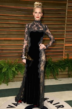 Poppy Delevingne in Dolce & Gabbana at Oscars After-Party. Simply gorgeous!! #lace