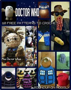 Doctor Who Crochet: Allons-y mit 10 kostenlosen Mustern! - Doctor Who Crochet: Allons-y mit 10 kostenlosen Mustern! Crochet Geek, Knit Or Crochet, Crochet Gifts, Crochet For Kids, Crochet Toys, Free Crochet, Yarn Projects, Crochet Projects, Doctor Who Crochet