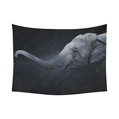 Interestprint Wildlife Big Elephant Tapestry Wall Hanging...