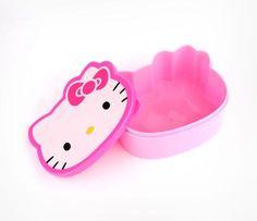 Hello Kitty Diecut Lunch Box: Pink Bow