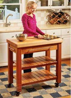 Modified version of the rustic x small rolling kitchen island do kitchen work table plans furniture plans and projects woodwork woodworking woodworking plans solutioingenieria Images