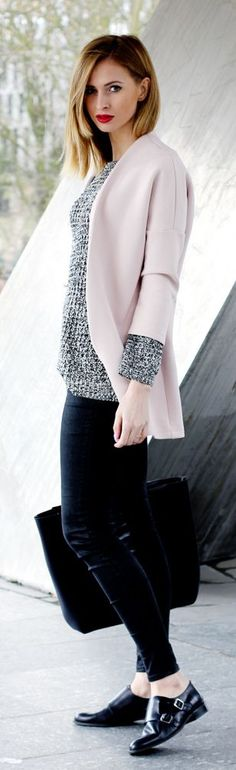 Light Pink With Dark Neutrals Outfit Idea by Beauty - Fashion - Shopping