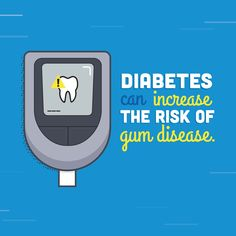 Dentaltown - Diabetes can increase the risk of gum disease. If you have diabetes, please disclose this information to your dentist and hygienist because diabetes has been linked to gum disease. Dental Quotes, Dental Facts, Dental Humor, Dental Hygiene, Dental Health, Oral Health, Dental Care, Dental Pictures, Social Media Tips