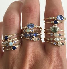 17 Ring Designers to Follow On Instagram | Rather than distracting from the gemstones, Jennie Kwon's approach to engagement rings emphasizes simple details to let the gemstones steal the show for every type of ring setting.