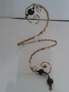 free shipping!!!hand made upper arm cuff of 1.5 mm double wire wrapped with 0.8mm wire with onix adjustable by energywire from Ecommmax. Find it now at http://ift.tt/1q0jXs0!