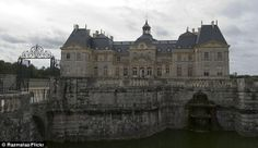 Château de Vaux-le-Vicomte in France: Moats were historically deep, broad ditches used to provide castles and towns with a preliminary line ...