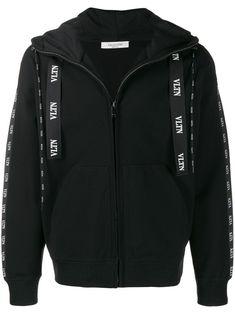 Valentino Vltn Logo Hooded Jacket In Black Valentino Jacket, Valentino Gowns, Valentino Men, Valentino Black, Side Stripe Trousers, Valentino Camouflage, Mandarin Collar Shirt, Hype Clothing, Mens Fashion Online