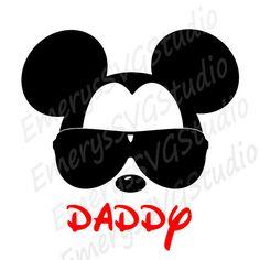 Fichero DXF de SVG para Mickey con gafas de sol