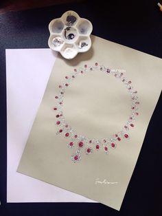 Big Jewelry, Luxury Jewelry, Stone Jewelry, Jewelry Bracelets, Jewelry Design, Jewellery Sketches, Jewelry Drawing, Jewelry Sketch, Diamond Pendant Necklace