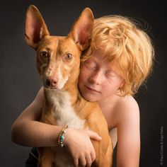 Child with Ibizan Hound- by Paul Croes & Inge Nelis 2014 Belgium Best Dog Breeds, Best Dogs, Children Photography, Animal Photography, Animals For Kids, Cute Animals, Ibizan Hound, Pharaoh Hound, Canario