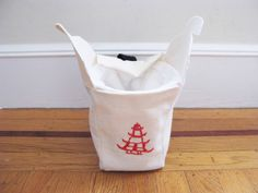 Chinese Take Out Rock Climbing Chalk Bag small by AllBeta on Etsy, $39.99
