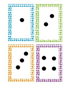Here's a set of dot pattern cards and matching numbers from 1-9.