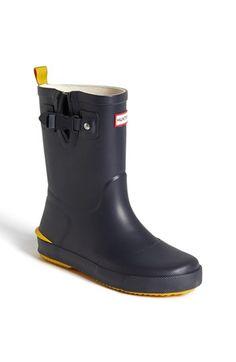 Hunter 'Davidson' Waterproof Rain Boot (Toddler & Little Kid)   Nordstrom navy