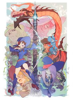 A place for fans of the anime, movies, and manga Little Witch Academia! Manga Anime, Fanarts Anime, Anime Characters, Anime Art, Little Wich Academia, My Little Witch Academia, Anime Witch, Magical Girl, Character Illustration