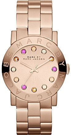1714869f82bdd Marc by Marc Jacobs MBM3216 Amy rose gold-toned watch on shopstyle.co.