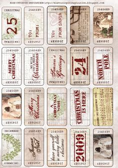 Vintage Christmas Tickets