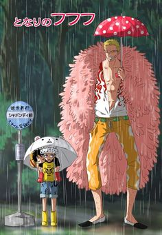Trafalgar D. Water Law, Monkey D. Luffy and Donquixote Doflamingo One piece