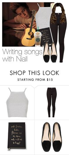 """""""REQUESTED: Writing songs with Niall"""" by style-with-one-direction ❤ liked on Polyvore featuring Topshop, American Apparel, Kate Spade, Zara, OneDirection, 1d, NiallHoran and niall horan one direction 1d"""