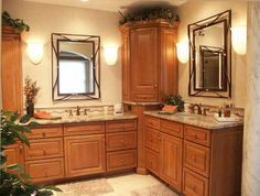 Double Vanity With Corner Storage Decorating Inspirations Pinterest Shelves In The