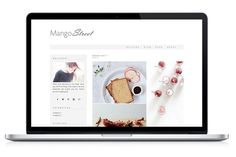 Check out Wordpress Theme - Mango Street by Light Morango on Creative Market. Feminine Wordpress Theme. Blog Design.