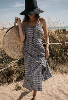 Summer In Gingham Backless Dress