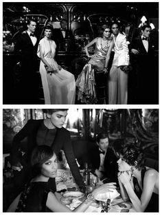 Jazz Age Fashion, by Karl Lagerfeld. Shot in Maxim's, Paris.
