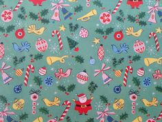 vintage christmas wrapping paper | the goose and the hound
