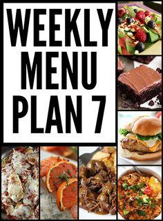 Weekly Menu Plan - y