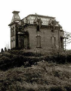 Abandoned Second Empire Victorian in Ohio