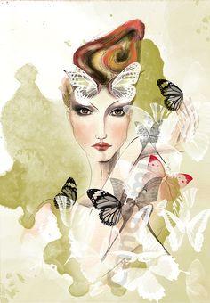 Fashion Illustration femme avec série de par CandyMinuteShop