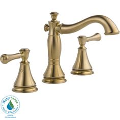 Delta Cassidy Champagne Bronze 2-Handle Widespread WaterSense Bathroom Sink Faucet (Drain Included)