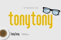 Introducing Tony Tony font, a clean and simple sans serif font, with sharp and…