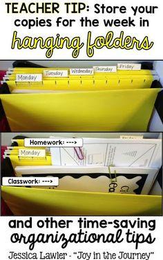 Time-saving tips for organizing your teacher desk!