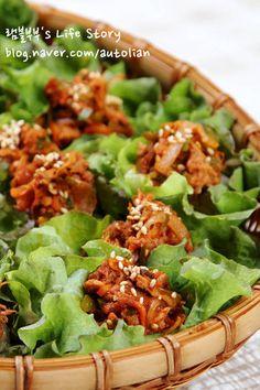 [간단한 음식 만들기] 더운 여름 휘리릭~ 참치상추쌈밥 만들기 – 레시피 | Daum 요리