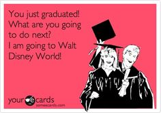 You just graduated! What are you going to do next? I am going to Walt Disney World! disney
