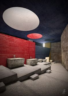 Convent of La Tourette - interior - by Le Corbusier creates space, light and atmosphere brilliantly