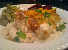 The Yogurt Shoppe Café Ranch Chicken. The Yogurt Shoppe Café is in Columbus, Georgia. Ranch Chicken is one of the popular items on the menu amongst many other delicious home cooked meals. Ranch Chicken Recipes, Ritz Chicken, Baked Chicken, Great Recipes, Favorite Recipes, Delicious Recipes, Buttermilk Chicken, Good Food, Yummy Food