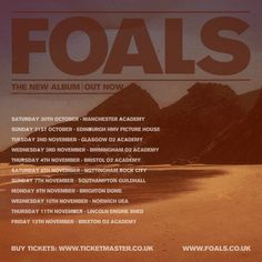 Don't Believe The Hype: Foals Tour Poster Competition