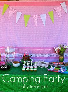 """""""Glamping"""" Party, very cute Troop Beverly Hills themed party"""