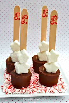 Hot chocolate on a stick, just swirl in hot milk....Thinking about a hot chocolate bar for Christmas morning.