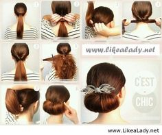 Hairstyle like a lady