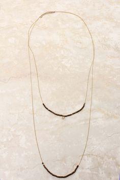 Champagne Hailey Charm Necklace | Emma Stine Jewelry Bracelets