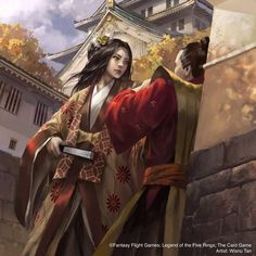 Lion's Pride (TCG)   L5r: Legend of the Five Rings Wiki   FANDOM powered by Wikia Character Inspiration, Character Art, Character Design, Fantasy Warrior, Fantasy Girl, Fantasy Books, Fantasy Characters, Buildings Artwork, Female Samurai