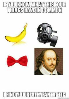 Fantastic!  Bananas  Are you my mummy?  Bow ties are cool  William Shakespeare